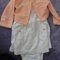 vestido carter´s com bolero - 6 meses - Carter`s