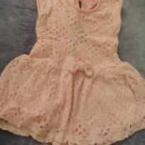 vestido de renda rosa - 6 a 9 meses - Sem marca