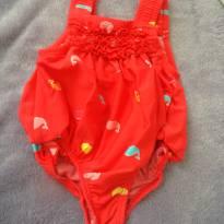 Maiô vermelho de peixinhos - 6 meses - Sem marca