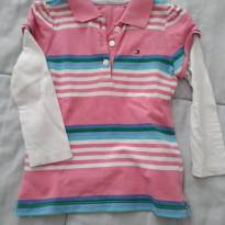 Camiseta polo manga comprida Tomy Hilfiger - 12 a 18 meses - Tommy Hilfiger