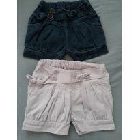 2 shorts jeans - 1 ano - Sem marca