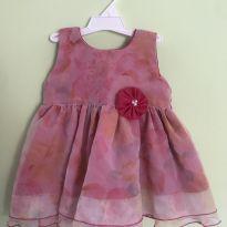 Vestidinho rosa fresquinho(acompanha sandalinha) - 9 a 12 meses - Não informada