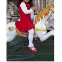 vestido vermelho lindo tecido macio - 3 anos - Marisol