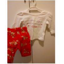 Conjunto Casaquinho Chicco + calça florida - 3 meses - Chicco
