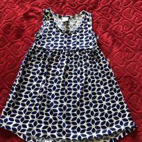 Vestido Folhinhas Azuis - 3 anos - Hering