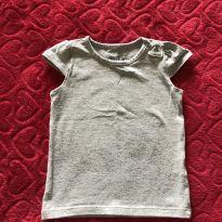 Camiseta Cinza c Laço - 2 anos - Baby Club