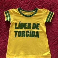 Camiseta Brasil - 3 anos - Basic+ Kids