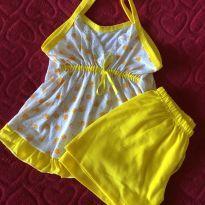 Lote de Pijamas amarelinhos - 4 anos - Não informada