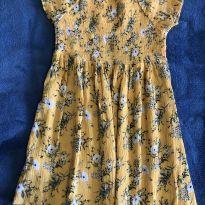 Vestidinho florido amarelo - 6 anos - Palomino