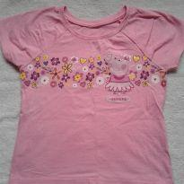 Camiseta peppa - 4 anos - Não informada