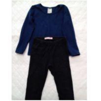 Blusa manga longa+ calça - 3 anos - Variadas