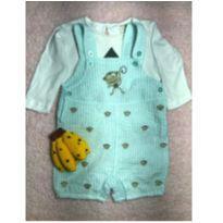 Romper importado (sem etiqueta, super levinho) + camisetinha de manga longa Zara - 3 a 6 meses - Zara Baby e Não informada