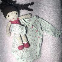 Body manga longa Anjos Baby - 3 a 6 meses - Anjos baby