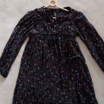 Vestido - Bata - manga longa - florido - Zara - T. 4-5 - 4 anos - Zara