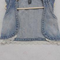 Colete  Jeans com renda / Zara Kids - 3 anos - Zara