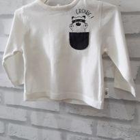 Camiseta  manga longa com bolsinho Bebê.  T. 1M. Kiabi - 0 a 3 meses - Kiabi e Kiabi Baby