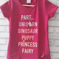 Camiseta rosa unicórnio.  T. 6 Nova - 5 anos - Marca não registrada