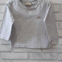 Camiseta manga longa cinza - Milon T. P Bebê - 6 a 9 meses - Milon
