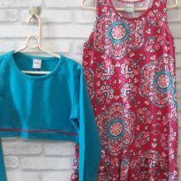 Conjunto Vestido com Casaquinho - T. 10 - 10 anos - Kely & Kety