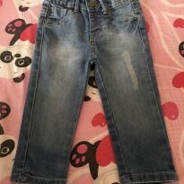 Calça jeans princesa - 9 a 12 meses - Teddy Boom
