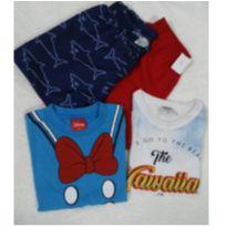 Conjuntinhos fofos de Camisetas e Bermudas - 2 anos - Rovitex Kids e Dino kids