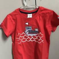 Camiseta Vermelha Barquinho - 2 anos - Have Fun