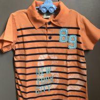 Camiseta Polo Laranja - 3 anos - Have Fun