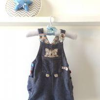 Macacão Jeans gatinho - 3 a 6 meses - Alphabeto