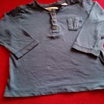 Camisa manga longa - 6 a 9 meses - Zara Baby