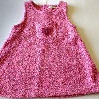 Vestido Rosa Inverno - 9 a 12 meses - Grain de Blé