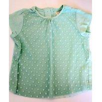 Camiseta Verde Zara - 9 a 12 meses - Zara