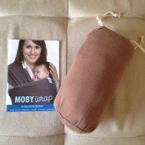 Moby Wrap Original 100% Algodão - Unissex - Cor Café - Sem faixa etaria - Moby Wrap