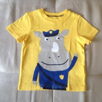 12m - Carter´s - Blusa amarela de Policial Rinoceronte - 12 a 18 meses - Carter`s