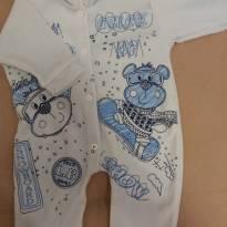 Macacão azul G - 3 a 6 meses - LUIZINHO BABY