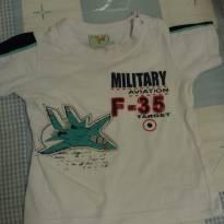 Camisa branca de avião P - 6 a 9 meses - Have Fun