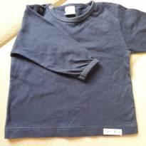 Camiseta manga longa azul M - 6 a 9 meses - Gana Baby