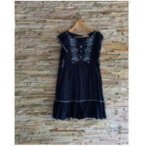 vestido bordado e babados - 12 anos - Zara
