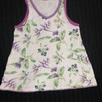 blusinha sem manga estampada - 6 anos - Sem marca