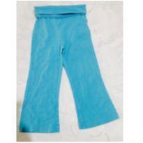 calca infantil em cotton azul turqueza - 2 anos - Importada