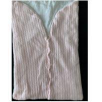 Porta bebê ou saco de dormir de tricô rosa e creme -  - sem etiqueta