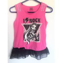 Camiseta Regata Infantil Monster High I Rock Da Mattel T 12a - 12 anos - Mattel