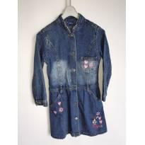 Vestido Sobretudo Jeans Disney Minie Tam.04a - 4 anos - Disney e C&A