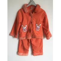 Conjunto De Frio Infantil Casaco Calça Frio Coral Tam.2-3a - 3 anos - Não informada