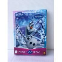 Jogo Quebra Cabeça Puzzle Frozen Da Glow 100 Peças -  - Grow e Frozen