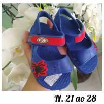 Sandálias do homem aranha do tamanho 21 ao 28 - 23 - Não informada