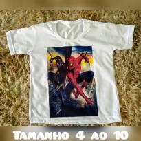Camiseta do homem aranha do tamanho 2 ao 10