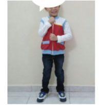 Fantasia Ryder Patrulha Canina, n. 4. short+colete+brinde:camiseta branca - 4 anos - Renner e Figurinha Boys