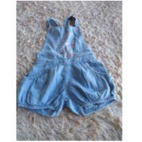 Macacão jeans - 9 a 12 meses - Lilica Ripilica