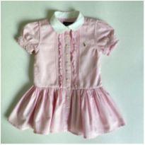 Vestido Rosa Oxford Ralph Lauren - 18 a 24 meses - Ralph Lauren