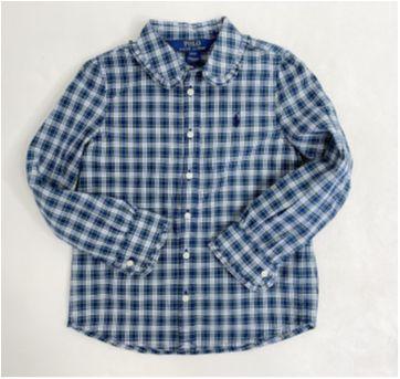 Camisa Xadrez Babados Polo Ralph Lauren - 4 anos - Ralph Lauren